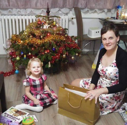 Patricie sdcerou Eliškou (Vánoce 2018)