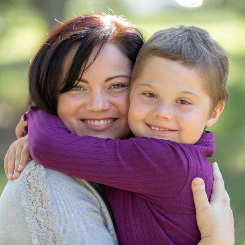 Magdalenka s maminkou